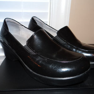 Alegria Black Patent Leather Shoes Wedge Heels 39